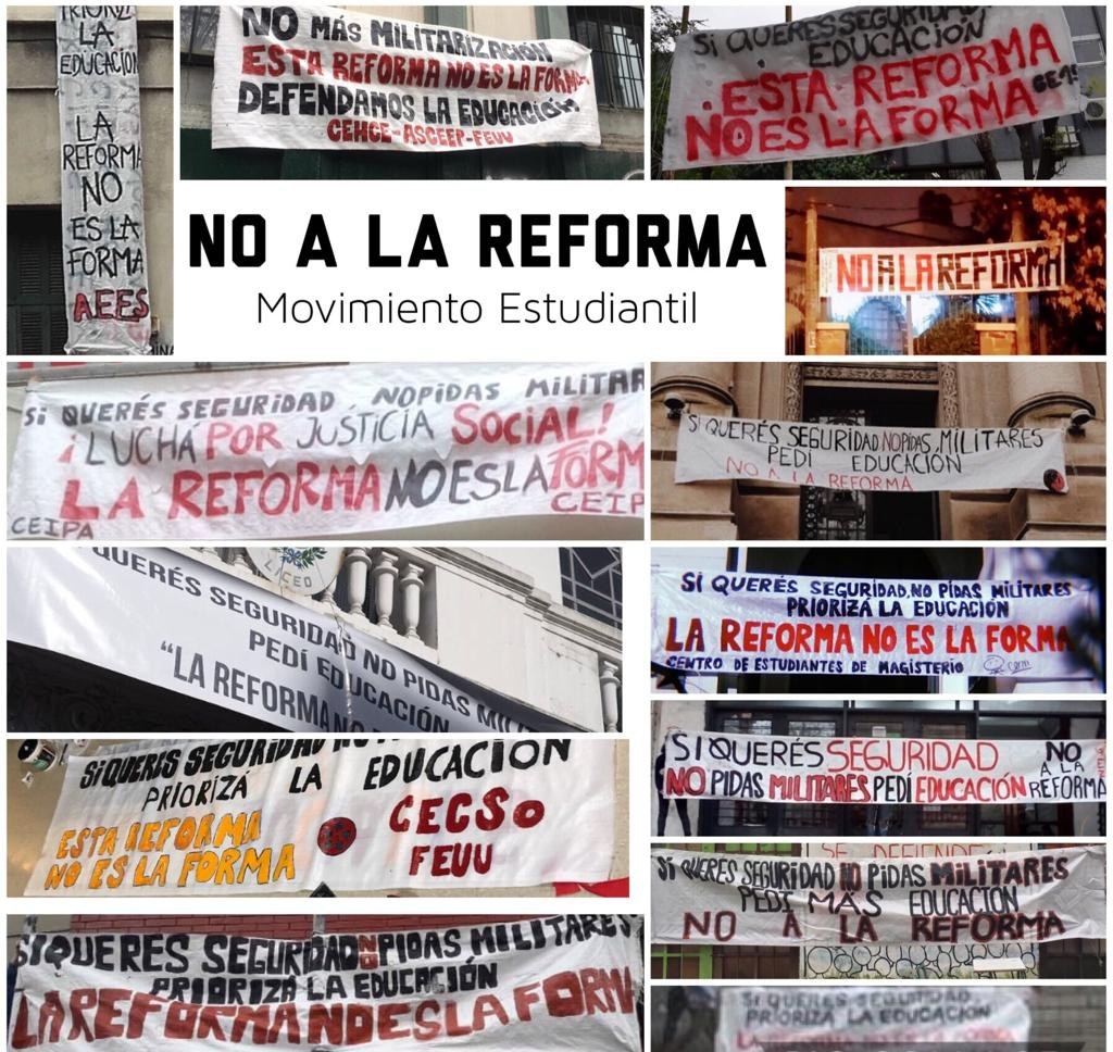 no a la reforma collage